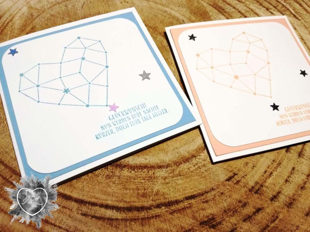 Stampin' Up!, Sternstunden, Karte, Babykarte