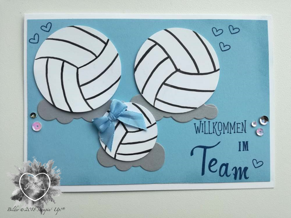 Stampin' Up!, Karte, Volleyball, Baby