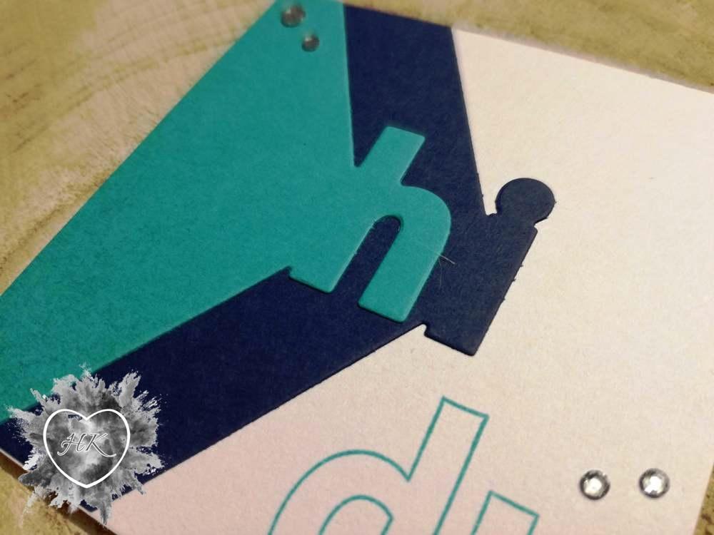 Stampin'Up!, Karte, Lagenweise Buchstaben