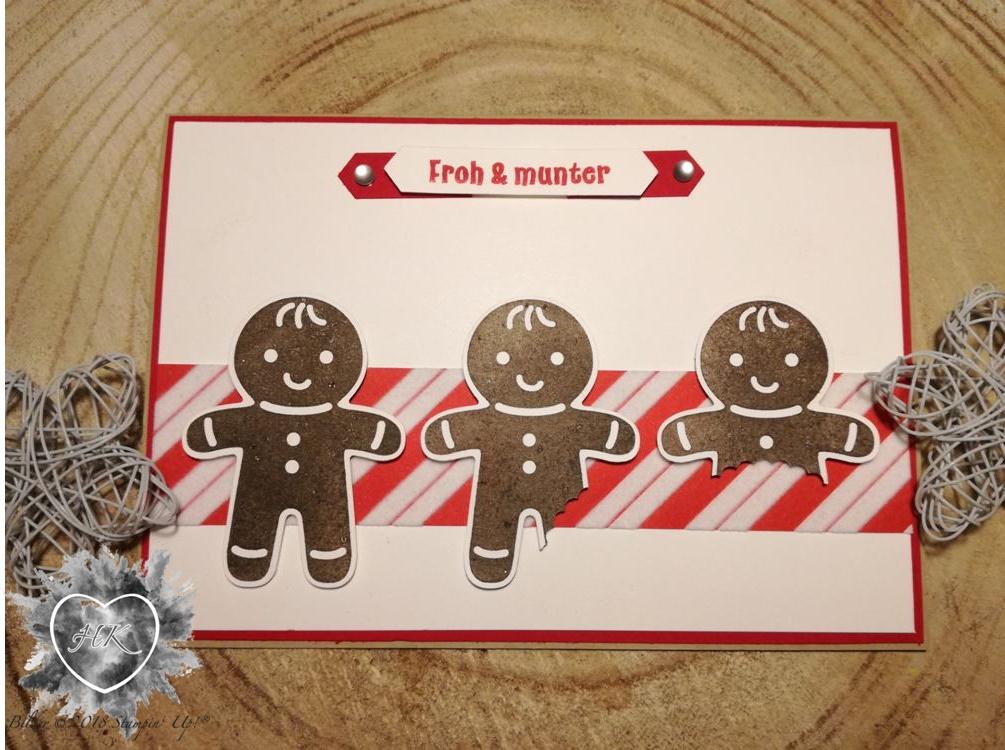 Stamin' Up!, KArte, Weihnachten, Lebkuchenmann