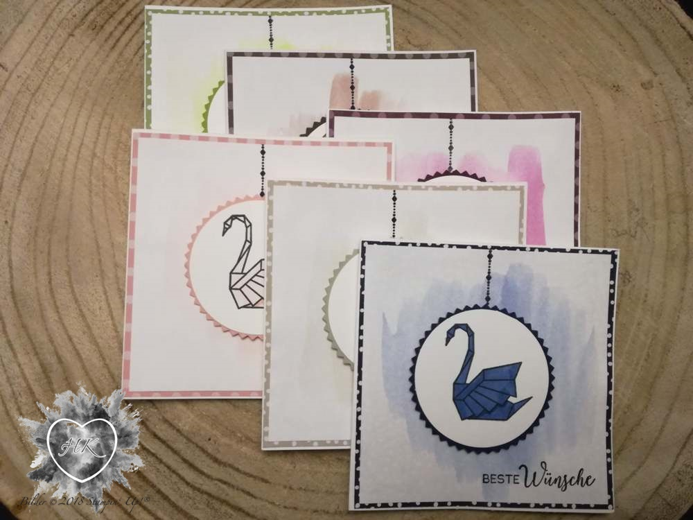 Stampin' Up!, Karte, Kranich