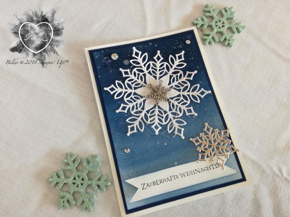Stampin' Up!, Karte, Weihnachten; Flockengestöber, Schneeflocke
