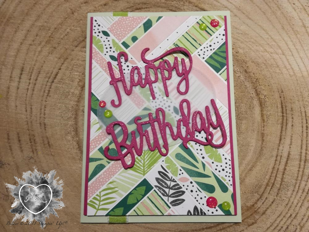 Stampin' Up!, Karte, Happy Birthday, Geburtstag