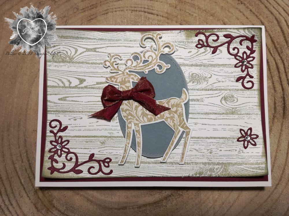 Stampin' Up!; Weihnachtshirsch; Karte