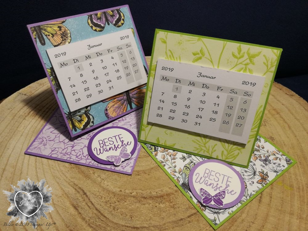 Stampin' Up!, Kalender; Schmetterling; Sale-a-bration; Schmetterlingsglück; Schmetterlingsduett