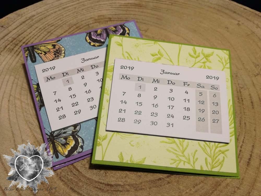 Stampin' Up!, Kalender; Schmetterling; Sale-a-bration; Schmetterlingsglück; Schmetterlingsduett
