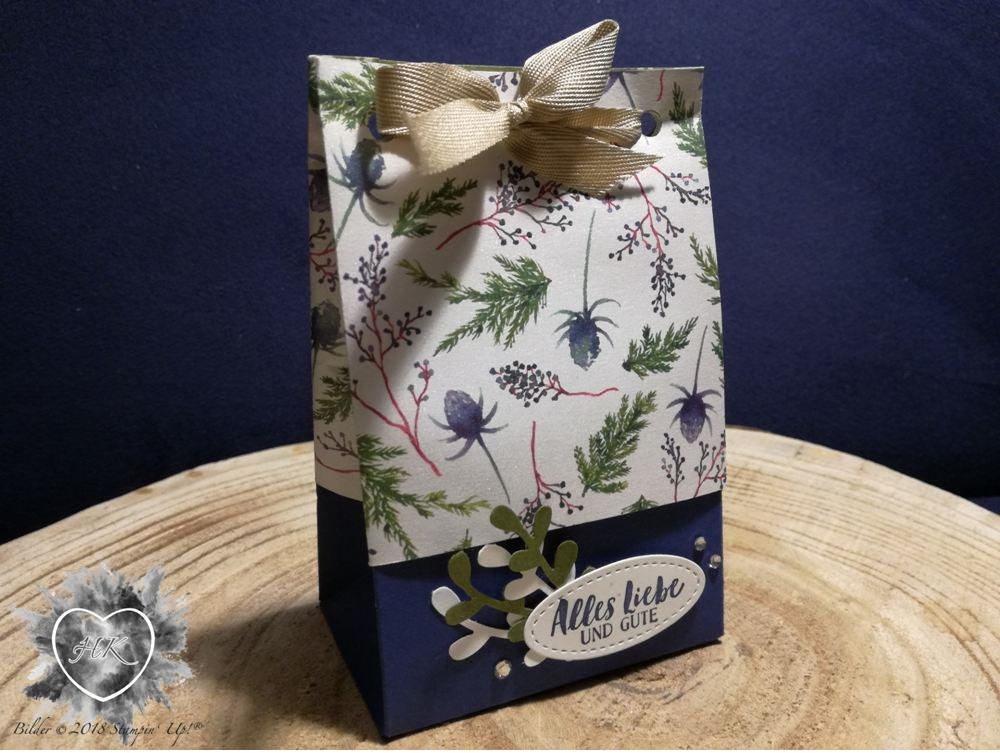 Stampin' Up!, Verpackung; Zierzweig; Stanzbrett für Geschenktüten