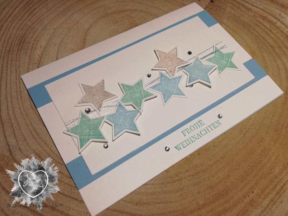 Stampin' Up!; Karte; Sterne; Weihnachten; Kreativkiste
