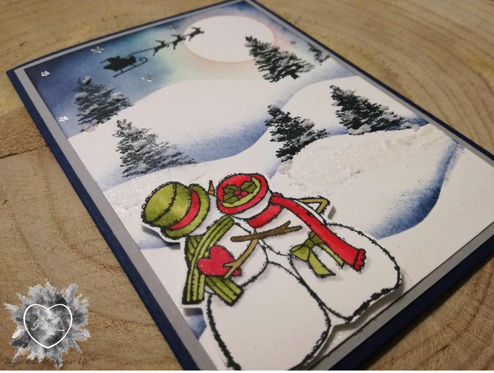 Stampin' Up!; Karte; Strukturpaste; Spirited Snowmen; Kraft der Natur