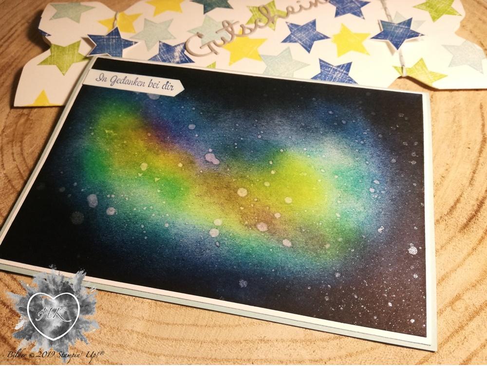 Stampin' Up!, Karte; Verpackung; Kreativkiste; Envelope Punch Board; Galaxykarte