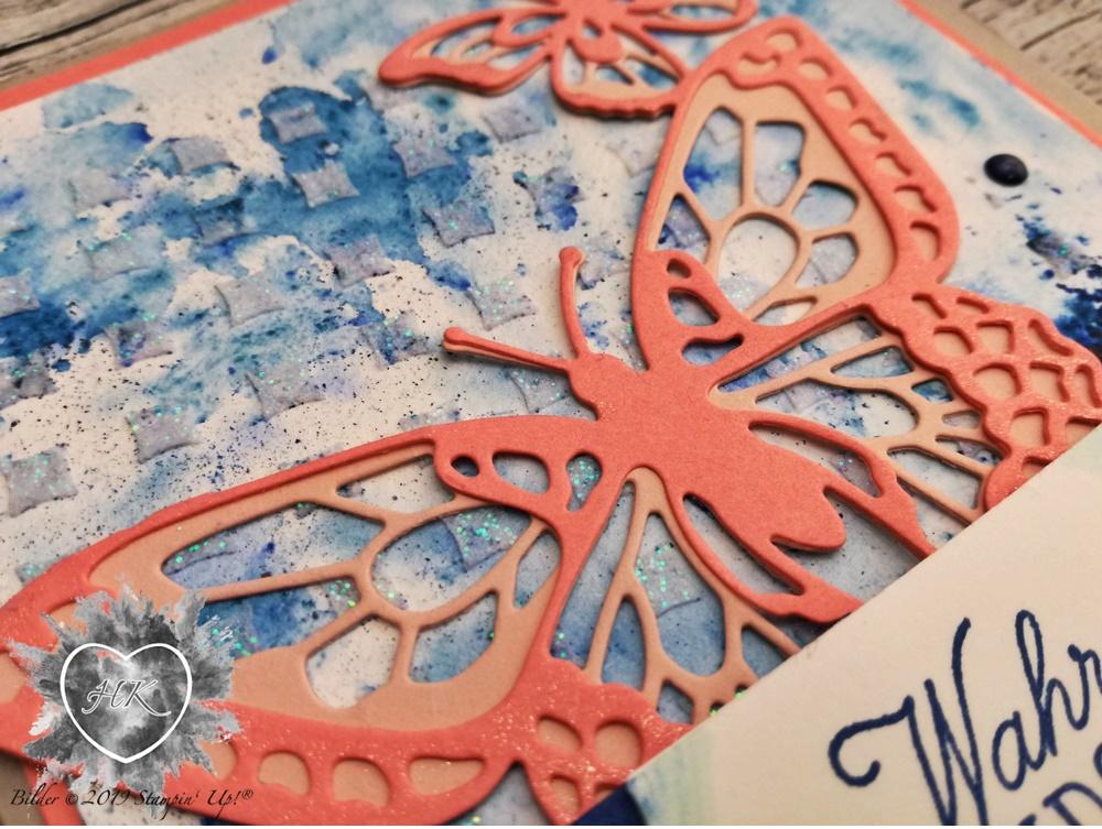 Stampin' Up!; Schöne Schmetterlinge; Karte; Brushos; Voller Schönheit; Strukturpaste