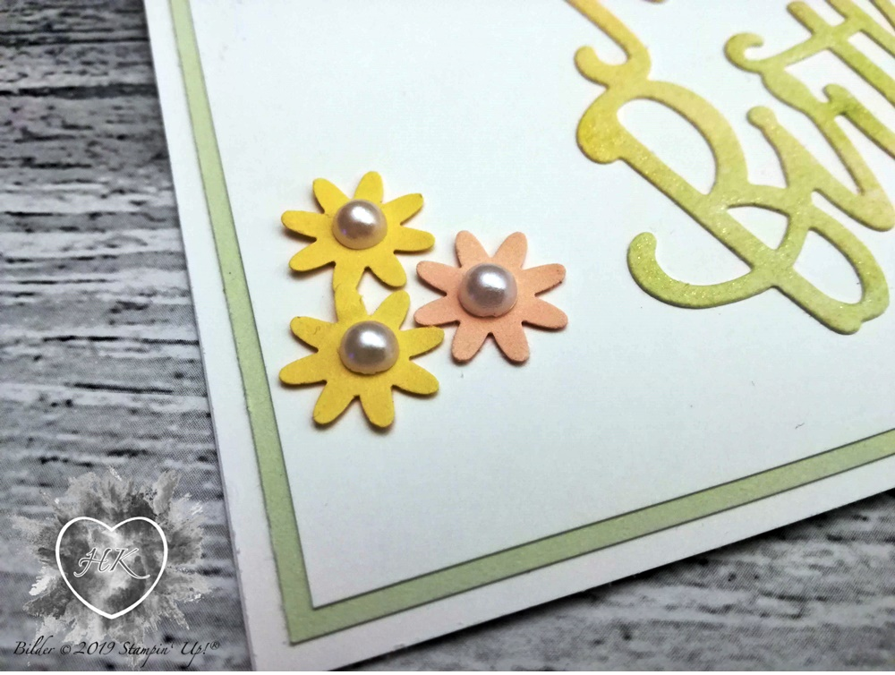 Stampin' Up!; Geburtstagskarte; Geburtstag; Stanze Blümchen; Karte