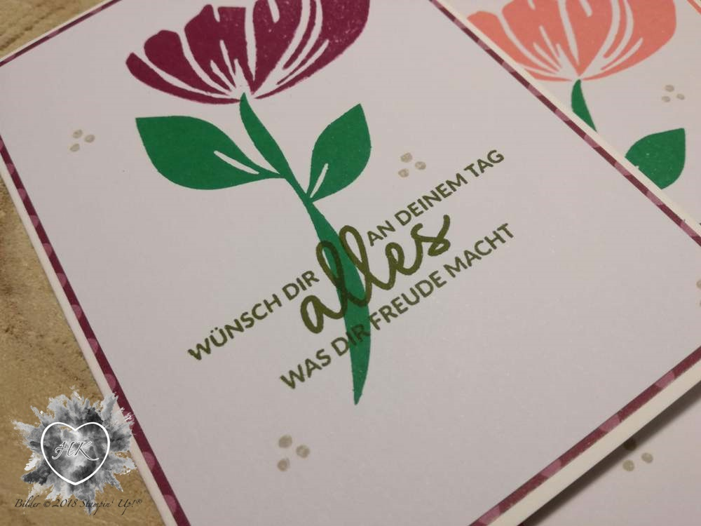 Stampin' Up!, Bloom by bloom; Karte