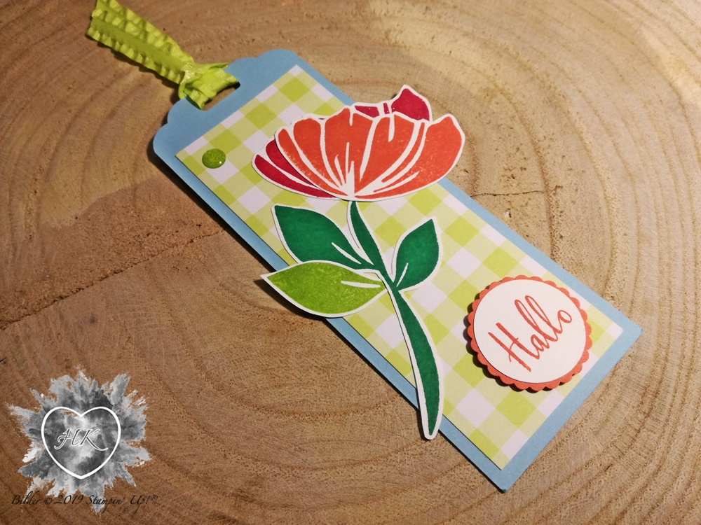 Stampin' Up!, Gewellter Anhänger; Bloom by bloom; Gartenglück