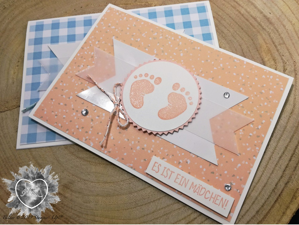 Stampin' Up; Karte; First steps; Süßes Baby
