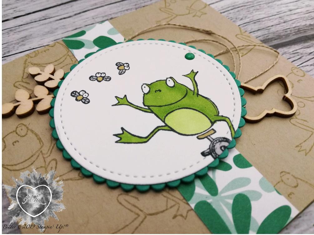 Stampin' Up!; Froschkönig; Karte; Akzente Schmetterling