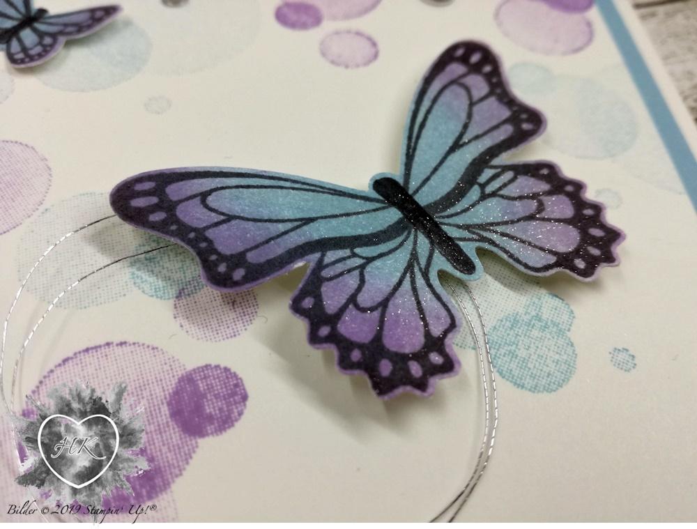 Stampin' Up!, Karte; Schmetterlingsduett; Schmetterlingsglück; Voller Schönheit