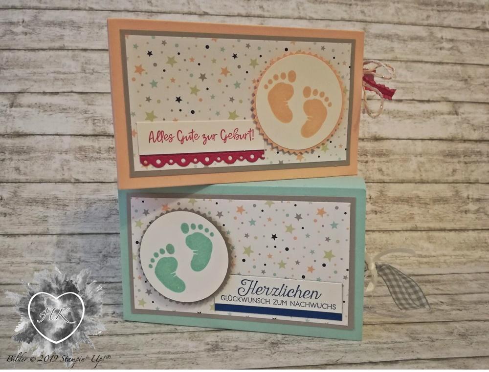 Stampin' Up!, Baby; Sternenhimmel, First steps, Süßes Baby; Doppelt gemoppelt