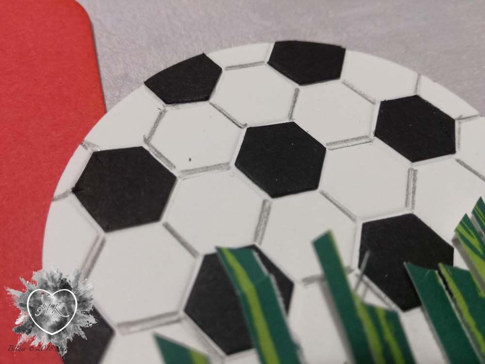 Stampin' Up!, Karte; Fußball, Auftragsarbeit;
