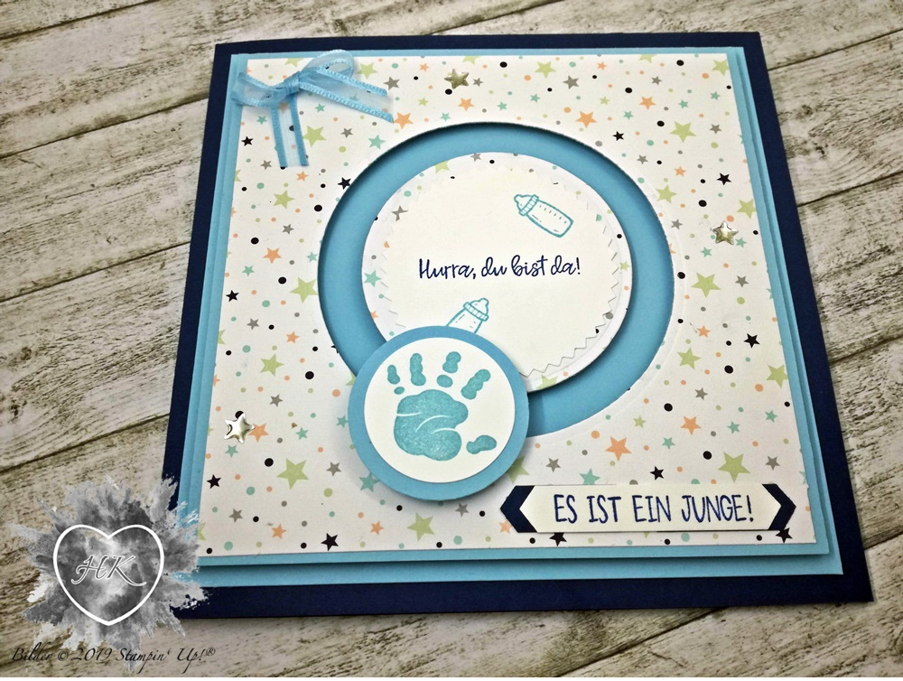 Stampin' Up!; Karte; Baby; First steps,