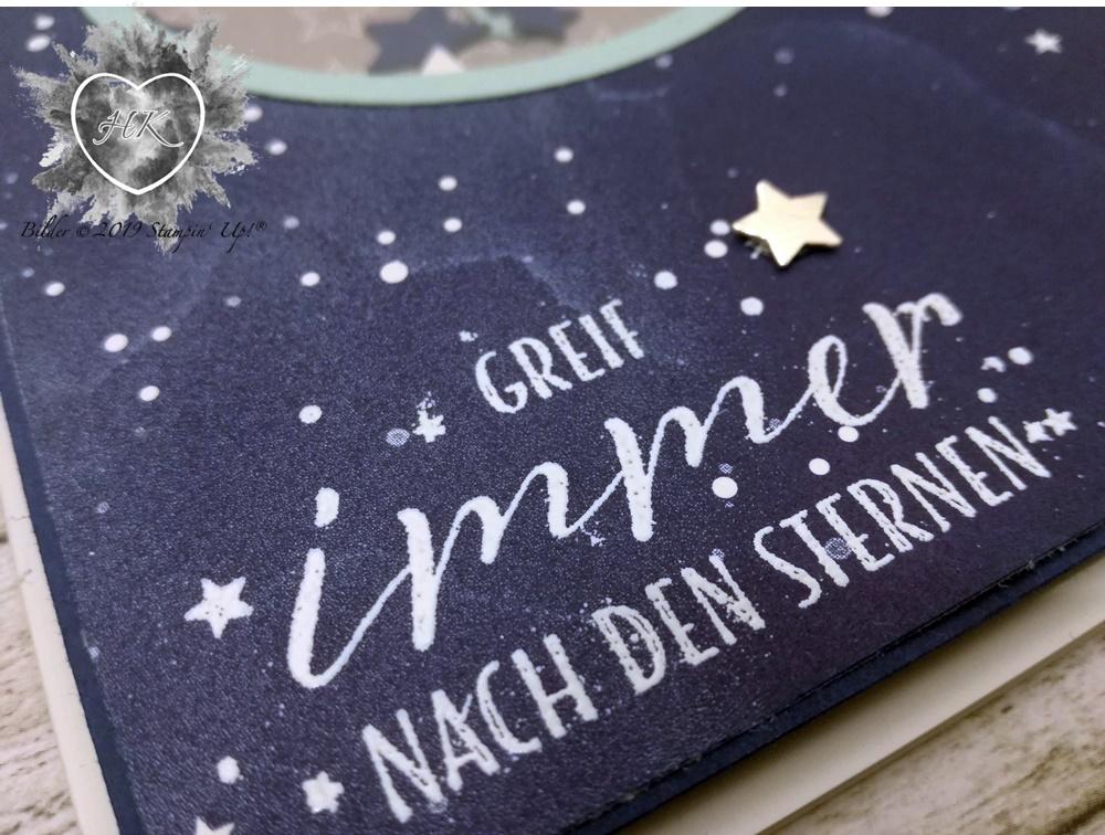 Stampin' Up!, Karte; Sternenhimmel; Sternstunden; Schüttelkarte