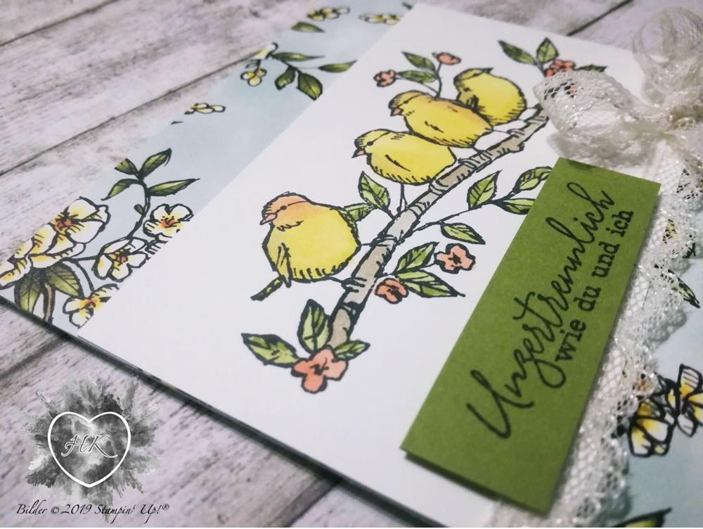 Stampin' Up!; Karte; Vogelgarten; Frei wie ein Vogel
