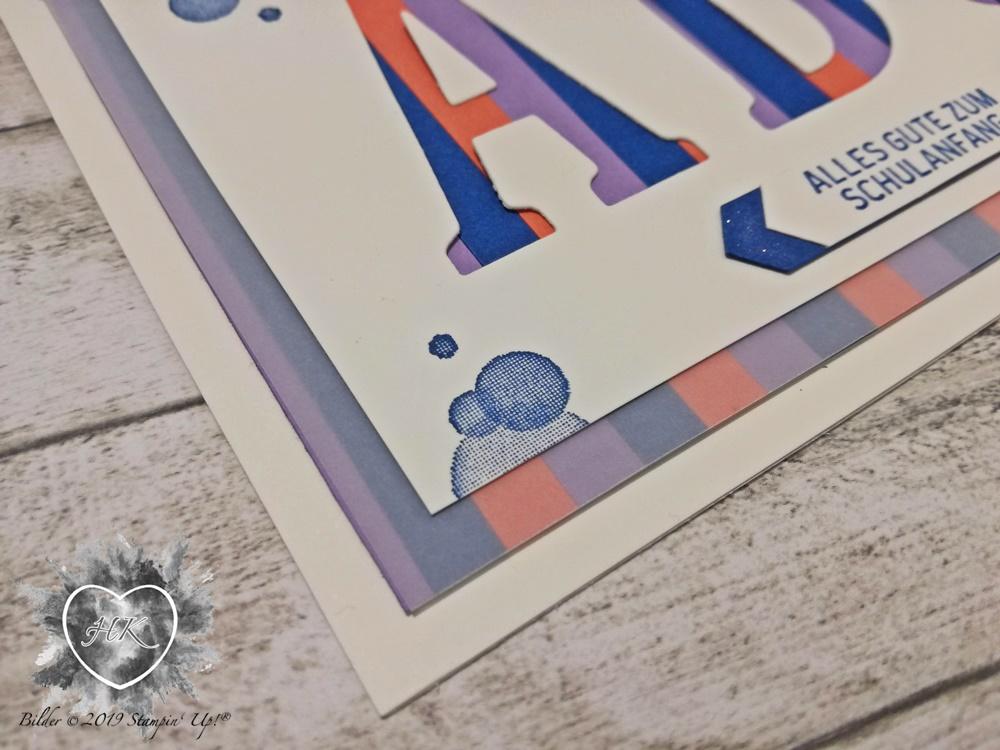 Stampin' Uo!, Karte; Colour Combo; Voller schönheit; Klitzekleine Grüße, Klassisches Etikett